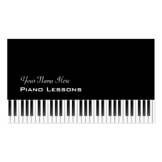 Tickling the Ivories Double-Sided Standard Business Cards (Pack Of 100)