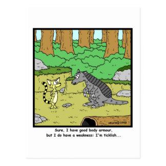 Ticklish: Armadillo Cartoon Post Cards