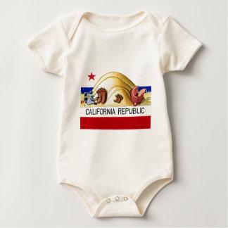 Ticklish California Bear Flag Baby Creeper