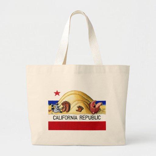 Ticklish California Bear Flag Bag