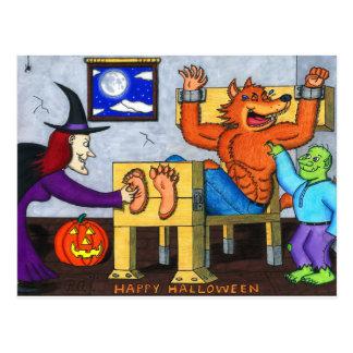 Ticklish Halloween Werewolf Postcard