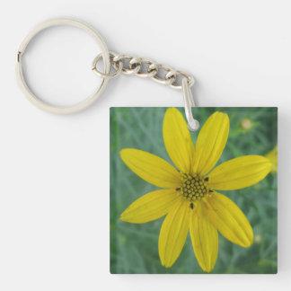 Tickseed Coreopsis Yellow Garden Flower Acrylic Key Chain