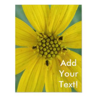 Tickseed Coreopsis Yellow Garden Flower Magnetic Card