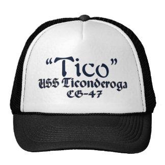 Tico-En diseño del texto Gorros