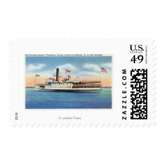 Ticonderoga Steamer Leaving Port Burlington, Postage