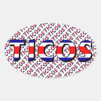 Ticos Oval Sticker