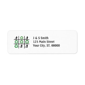TicTacToe Recycle Label