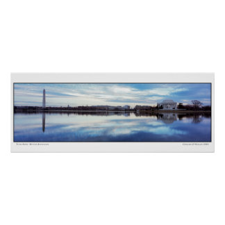Tidal Basin- Winter Afternoon- Panoramic Poster
