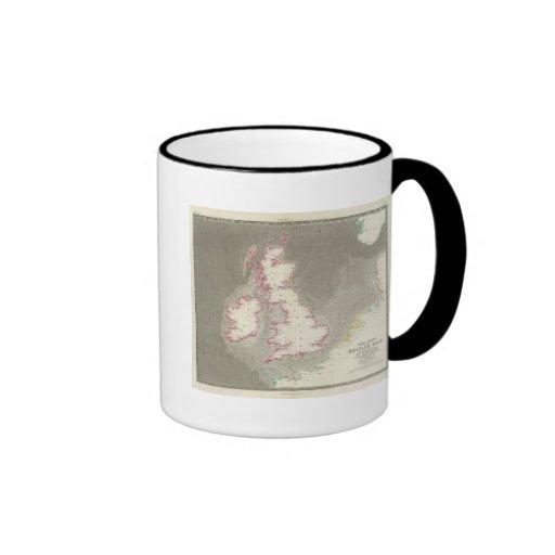 Tidal chart British Seas Ringer Coffee Mug
