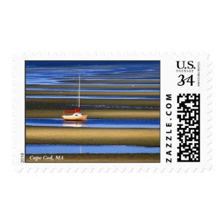 Tidal flats, Cape Cod. Postage Stamp