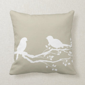 Tidal Foam Bucolic Branch Throw Pillow