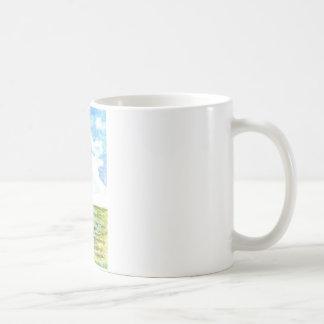 Tidal Marsh and Sky - watercolor pencil Coffee Mug