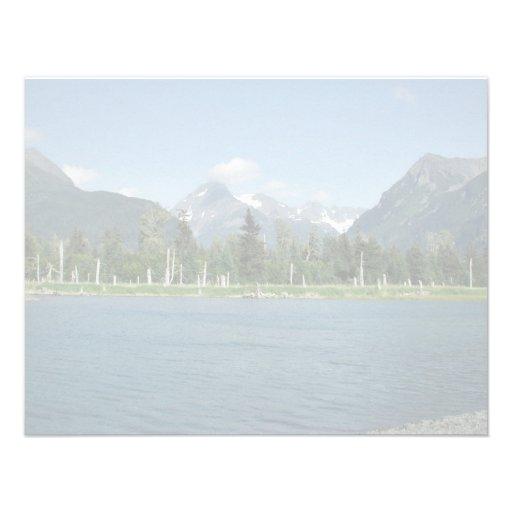 Tidal Pool and Spruce Custom Invites