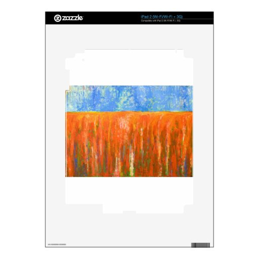 Tidal Red (abstract seascape) iPad 2 Skins