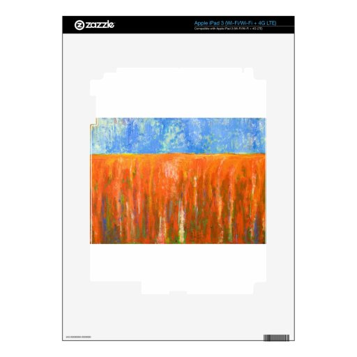 Tidal Red (abstract seascape) Decal For iPad 3