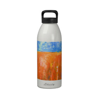 Tidal Red (abstract seascape) Water Bottles