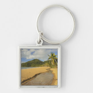 Tidal river at Mission Beach Silver-Colored Square Keychain