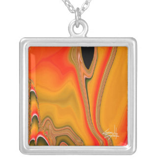 Tidal Wave Abstract Necklace (amber)