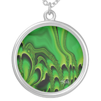 Tidal Wave Abstract Necklace (emerald)