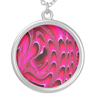 Tidal Wave Abstract Necklace (fuschia)