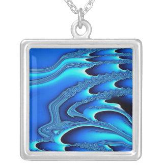 Tidal Wave Abstract Necklace (indigo)