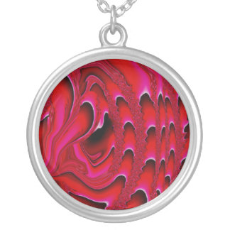 Tidal Wave Abstract Necklace (vermillion)