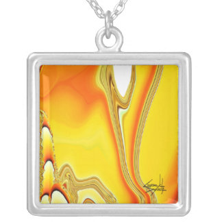 Tidal Wave Abstract Necklace (yellow)