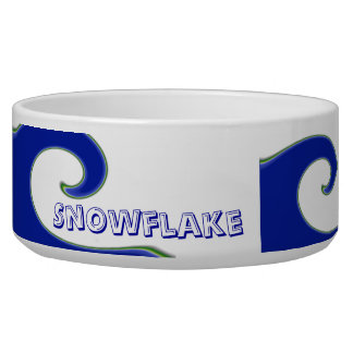 Tidal Wave Personalized Pet Bowl