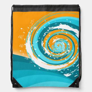 Tidal Wave Drawstring Backpacks