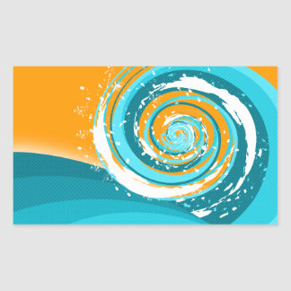 Tidal Wave Rectangular Sticker