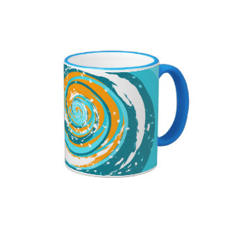Tidal Wave Ringer Coffee Mug