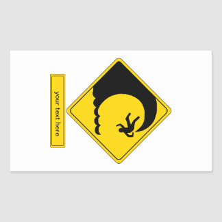 Tidal Wave Rectangle Stickers