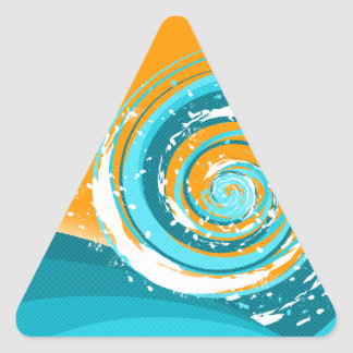 Tidal Wave Triangle Sticker