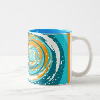 Tidal Wave Two-Tone Coffee Mug