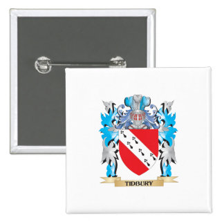 Tidbury Coat of Arms - Family Crest Pinback Button