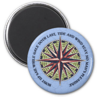 Tide and Wind 2 Inch Round Magnet