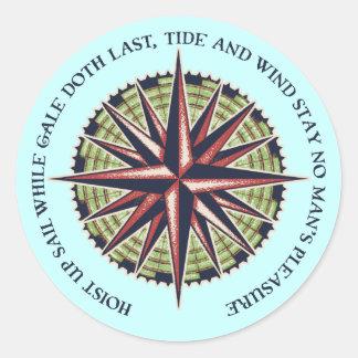 Tide and Wind Classic Round Sticker