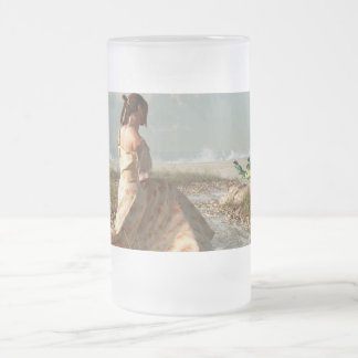 Tide Pool Oracle Frosted Glass Beer Mug
