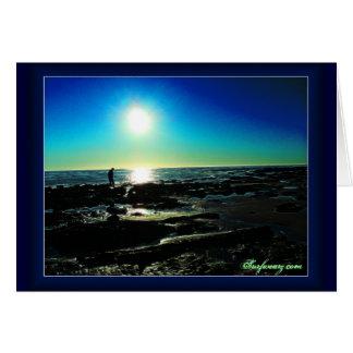 Tide Pool Sunset Card