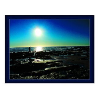 Tide Pool Sunset Postcard