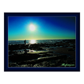 Tide Pool Sunset Poster