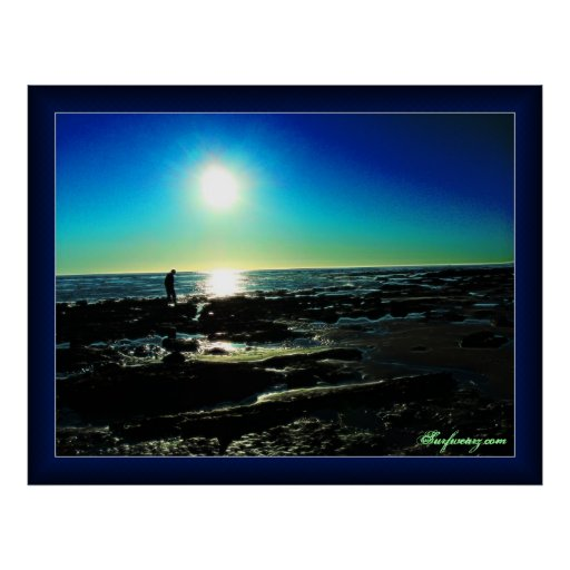 Tide Pool Sunset Posters