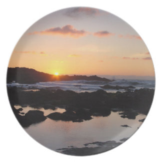 Tide pools and sunset plate
