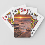 "Tide pools at sunset, California Playing Cards<br><div class=""desc"">USA,  California,  La Jolla. Sunset over tide pools at Coast Blvd. Park 