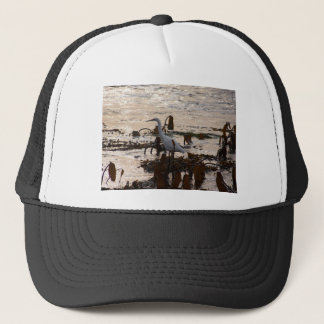 Tide Pools White Egret Trucker Hat