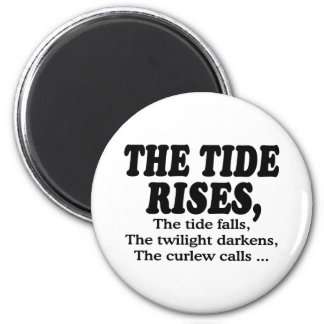 Tide Rises 2 Inch Round Magnet