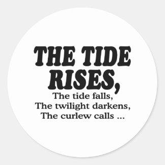Tide Rises Classic Round Sticker