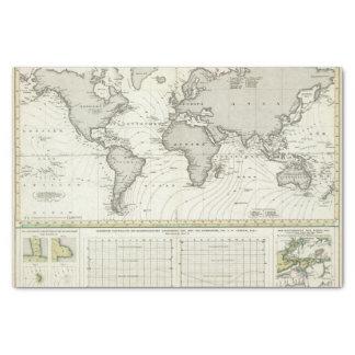 "Tide-wave Atlas Map 10"" X 15"" Tissue Paper"