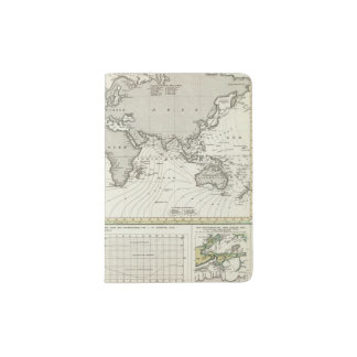 Tide-wave Atlas Map Passport Holder