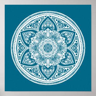 Tidepool Mandala Poster